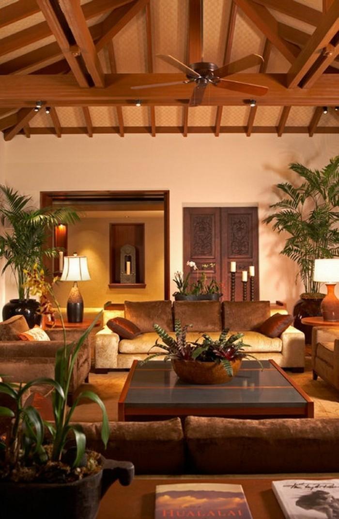 hochwertige inneneinrichtung wohnzimmer exotische ausstrahlung
