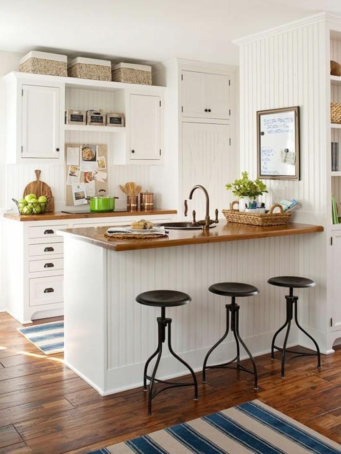 kücheneinrichtung wenig grüne akzente