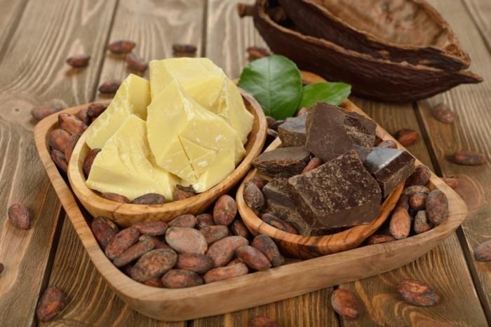 kakaobutter gesundes leben besseres aussehen nahrungsmittel kosmetik hautpflege kakaopulver haarpflege kakaobohnen