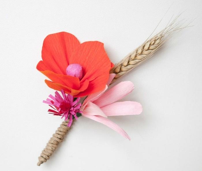Blume Basteln Blume Aus Krepppapier Basteln Foto Krepppapier Blumen