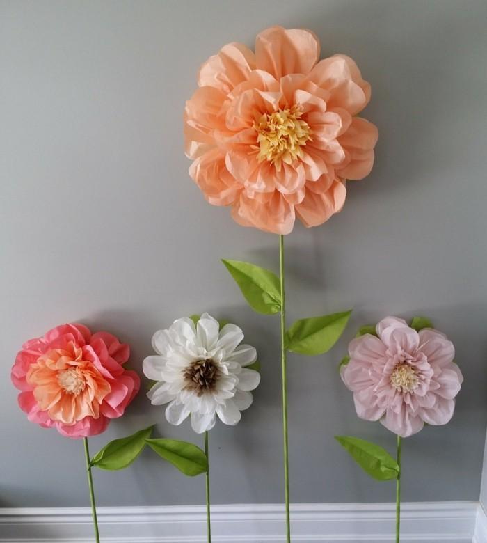 Blumen selber basteln 55 ideen f r kinder und erwachsene for Wohnungsdekoration ideen