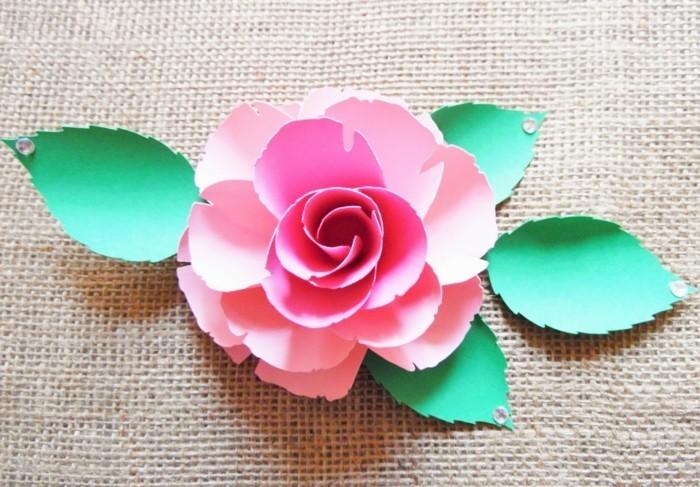 Blumen selber basteln 55 ideen f r kinder und erwachsene die gern basteln - Papierblumen selber machen ...
