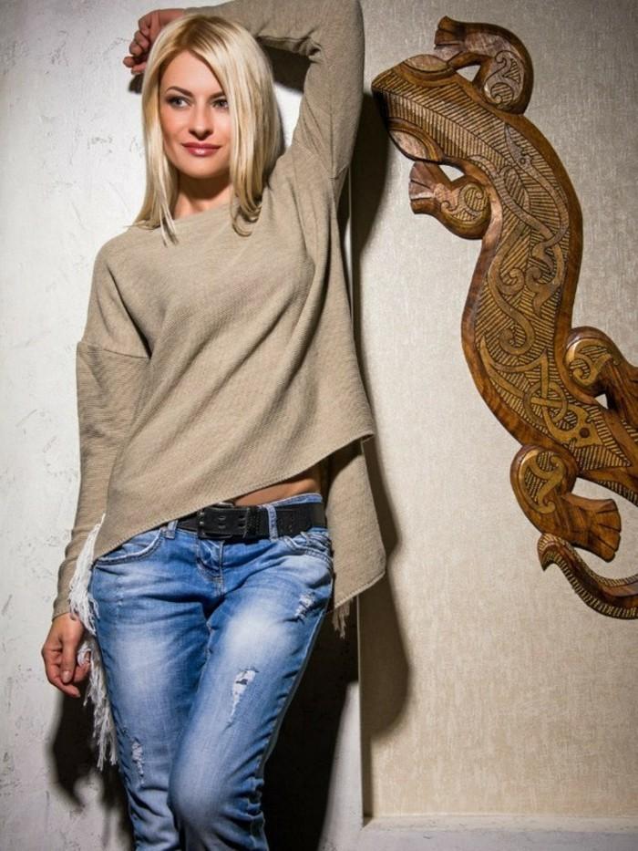 moderne pullover damen trends 2017 damenmode jahrestrends fashion baige farbe