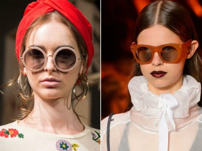 moderne sonnenbrillen damenmode runde brillen sommer 2017