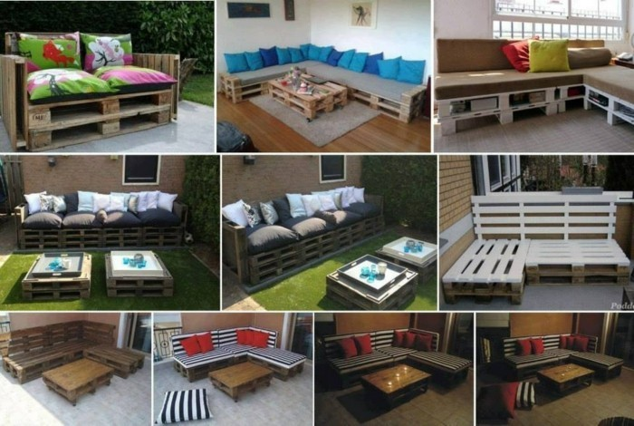 palettenmöbel ideen wanddekoration couchtisch gartenmöbel außenmöbel
