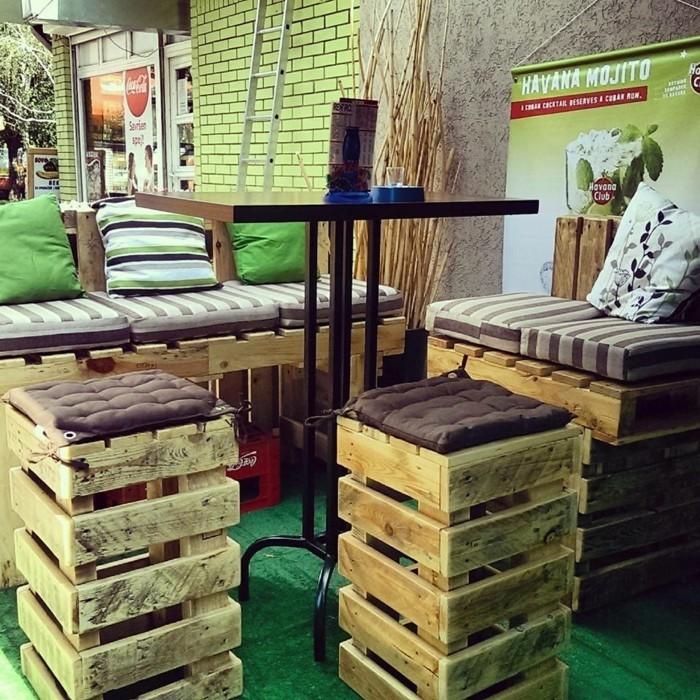 palettenmöbel ideen wanddekoration europaletten möbel aus paletten holz