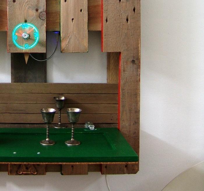 palettenmöbel ideen wanddekoration europaletten wandregale selber bauen