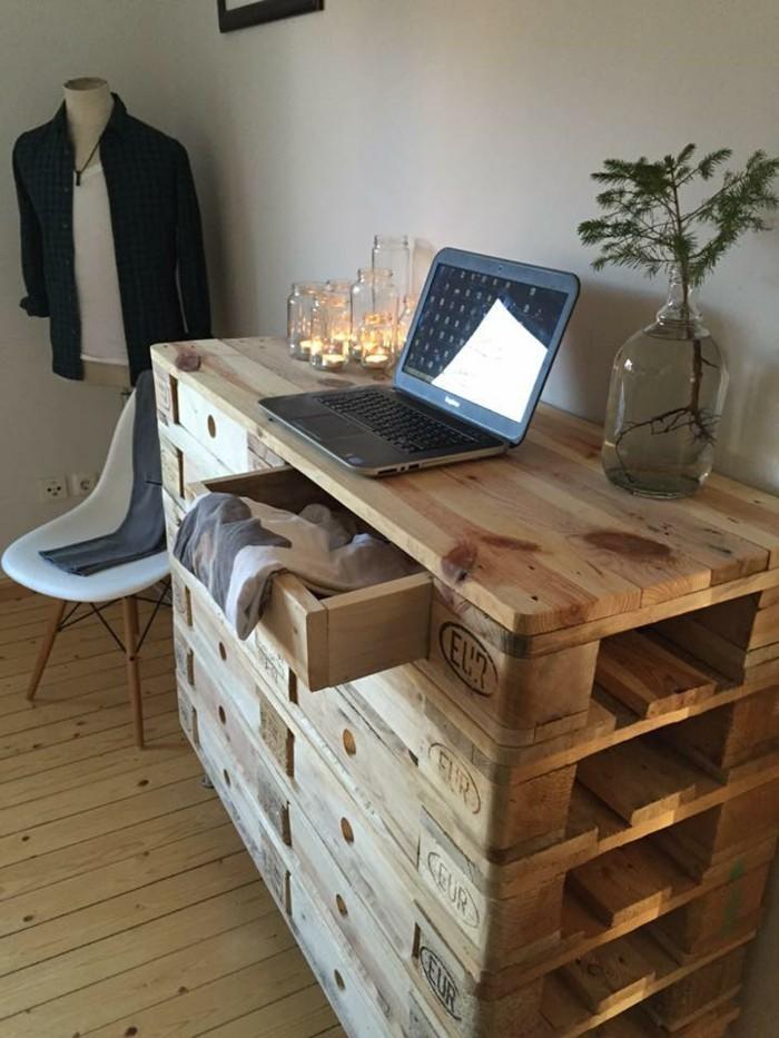 europaletten kommode selber bauen laptop skandinavisch wohnen