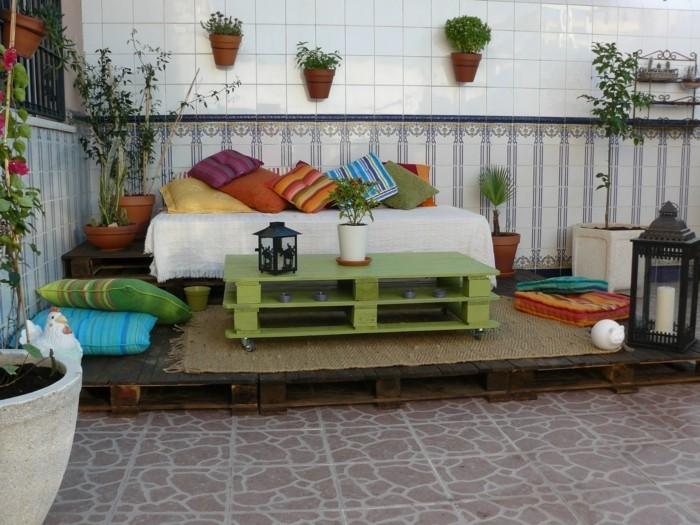 palettenmoebel ideen couchtisch selber bauen terrassenmoebel balkonmoebel