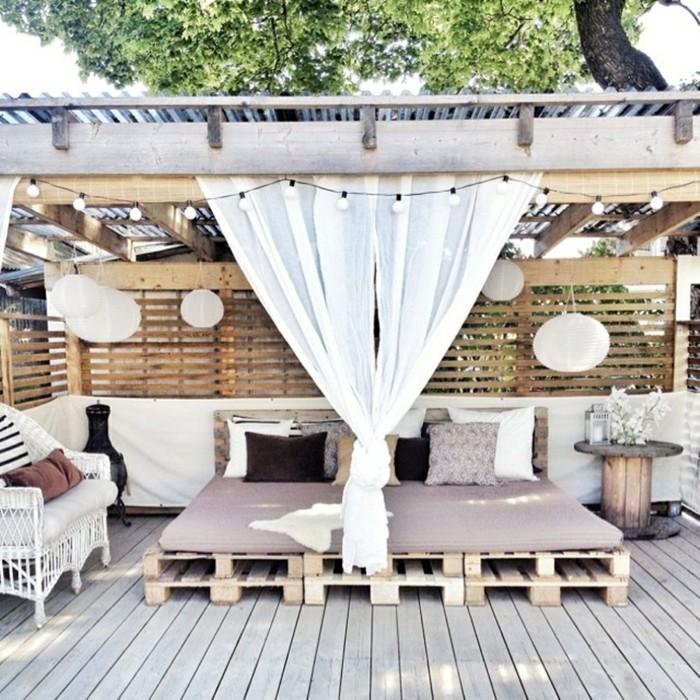 palettenmoebel selber bauen bett couch terrassenmoebel