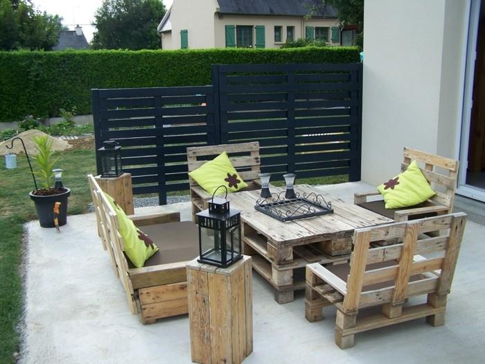 palettenmoebel terrassenmoebel europaletten moebel aus paletten couchtisch sessel gartenmoebel