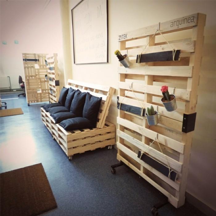 palettenmoebel wohnideen sofa selber bauen