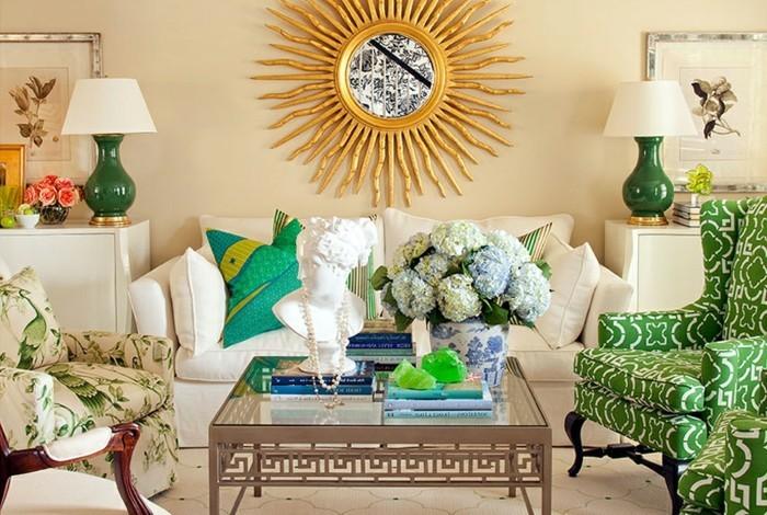 passende frühlingsdekoration frische wohnzimmergestaltung einrichtungsideen aroma