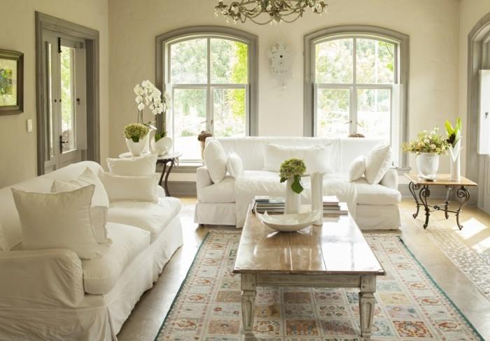 passende frühlingsdekoration frische wohnzimmergestaltung einrichtungsideen dekorationsideen