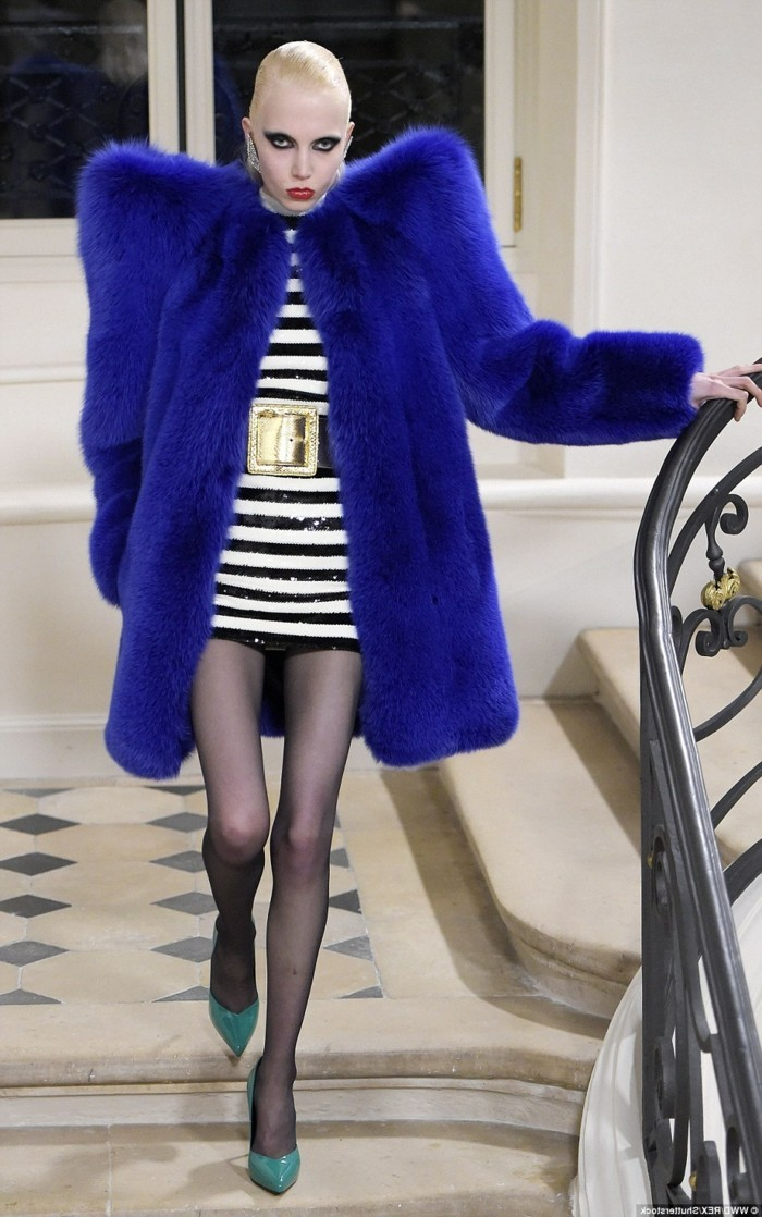 pelzmantel extravagant damenkleidung