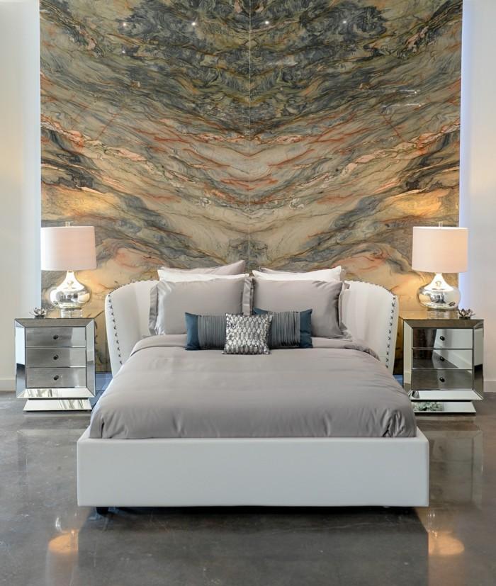 schlafzimmer ideen wandgestaltung atemberaubende akzentwand im schlafbereich
