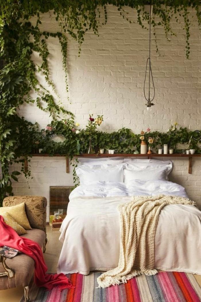 schlafzimmer ideen wandgestaltungim bohemian stil
