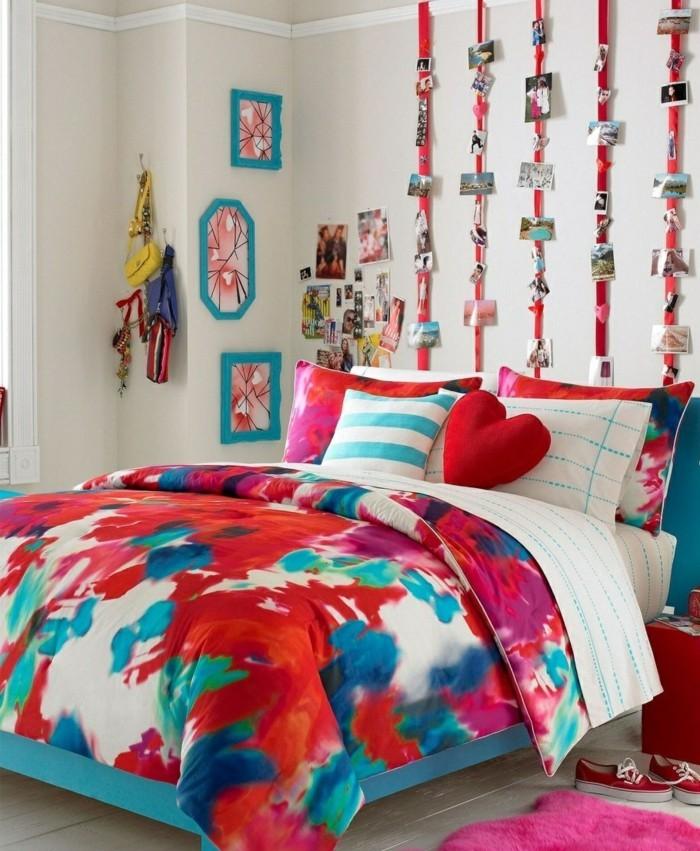 schlafzimmer ideen wandgestaltung jugendzimmer ausgefallene diy wanddeko