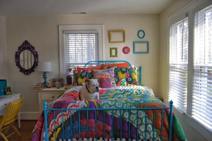 schlafzimmer ideen wandgestaltung mädchenzimmer farbige ideen bilderrahmen