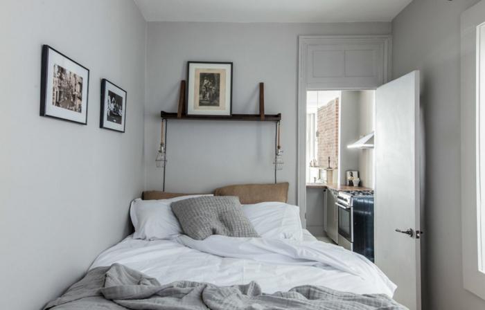 schlafzimmereinrichtung gestaltungsideen kleines schlafzimmer einrichtungsideen raumvergrößerung möblierung stauraum bettbezug