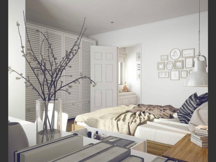schlafzimmereinrichtung gestaltungsideen kleines schlafzimmer einrichtungsideen raumvergrößerung möblierung stauraum inneneinrichtung