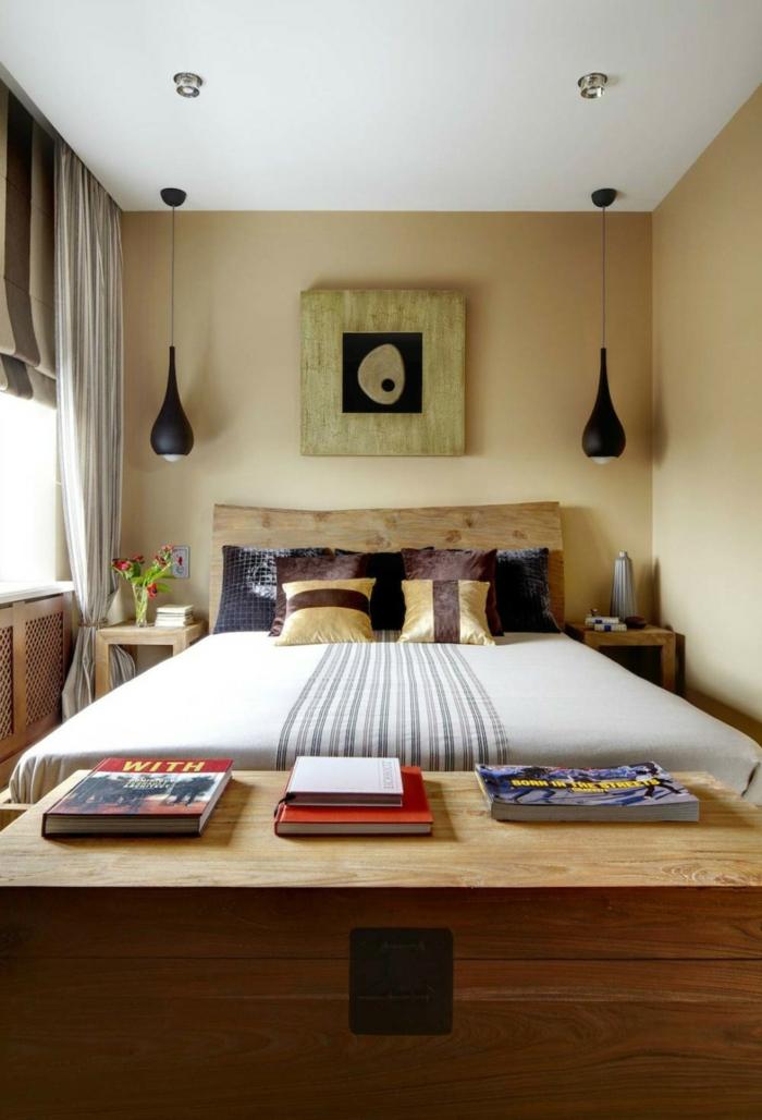 schlafzimmereinrichtung gestaltungsideen kleines schlafzimmer einrichtungsideen raumvergrößerung möblierung innengestaltung