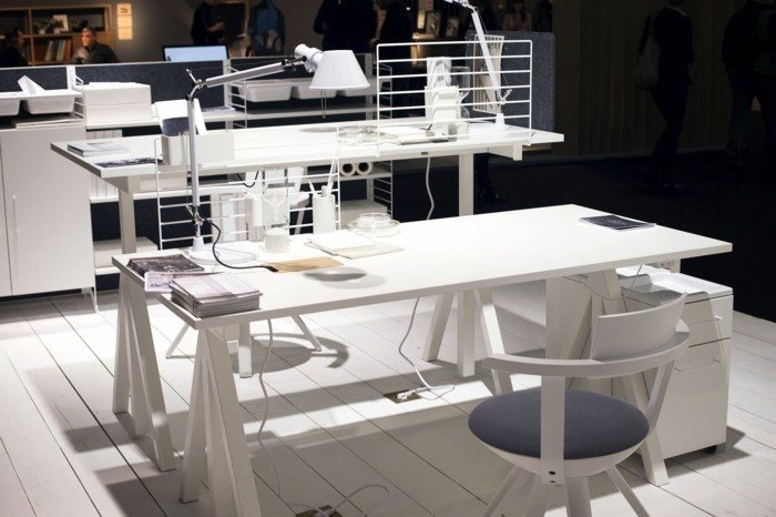 skandinavisches design string furniture weisse büromöbel home office imm cologne 2017