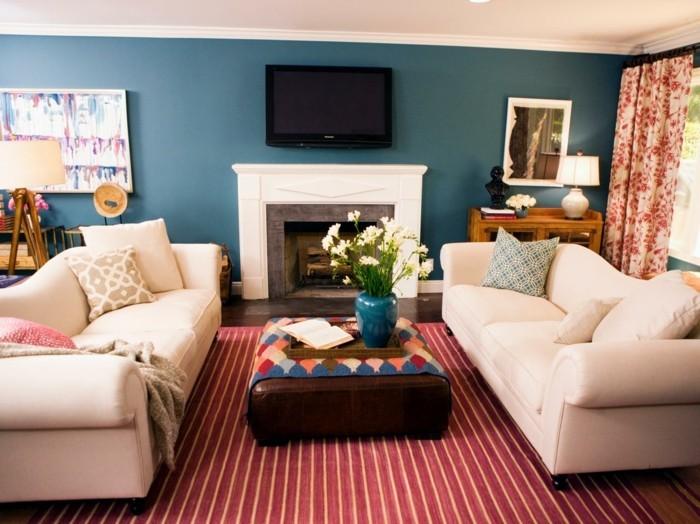 streifen dekoration wohnzimmer