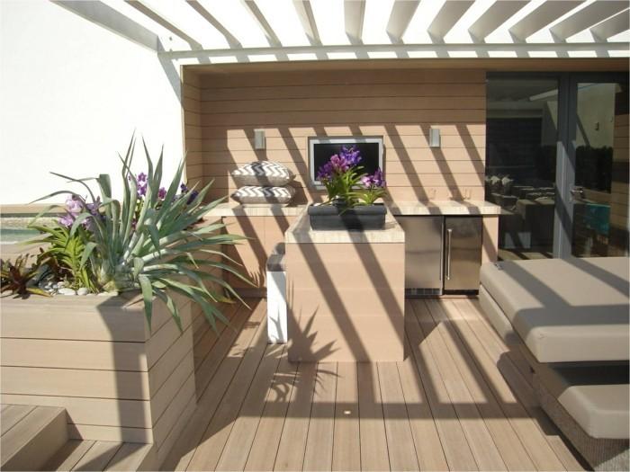 terassendielen resysta tropenholz balkongestaltung terrassenmöbel