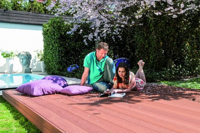 terrassendielen resysta innovativer werkstoff baumaterial gartenideen
