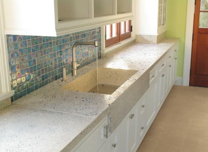 terrazzo fliesen arbeitsfläche kücheneinrichtung spüle
