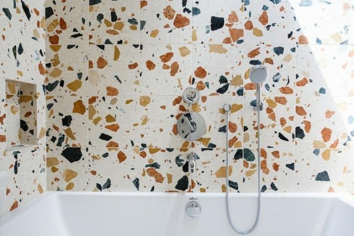 terrazzo fliesen bodenbelag badezimmer wanddekoration
