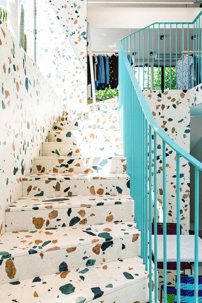 terrazzo fliesen bodenbelag treppen stufen