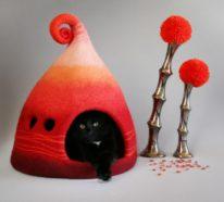 Katzenhaus aus Filz?! 23 ausgefallene Ideen für Ihre liebe Katze!