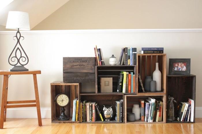 upcycling ideen möbel aus weinkisten dekoideen wohnideen45