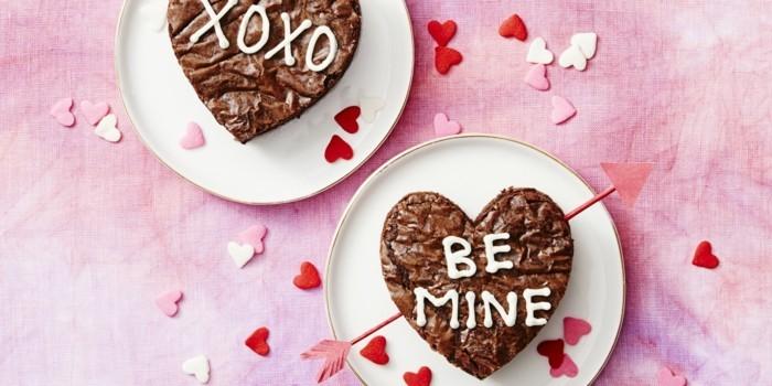 valentinstag diy brownies zubereiten