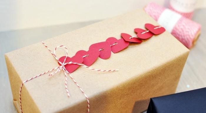 valentinstag diy geschenkideen verpackung herzen