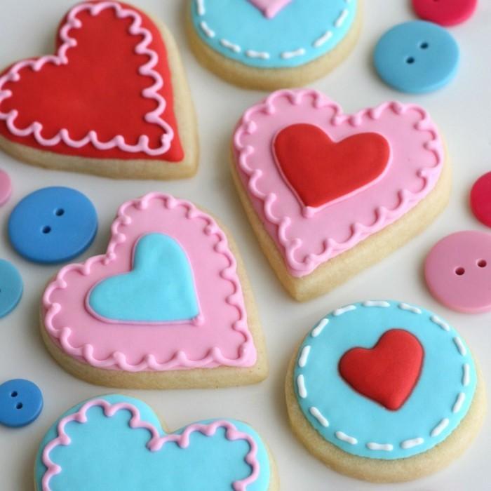 valentinstag ideen ausgefallene kekse zubereiten