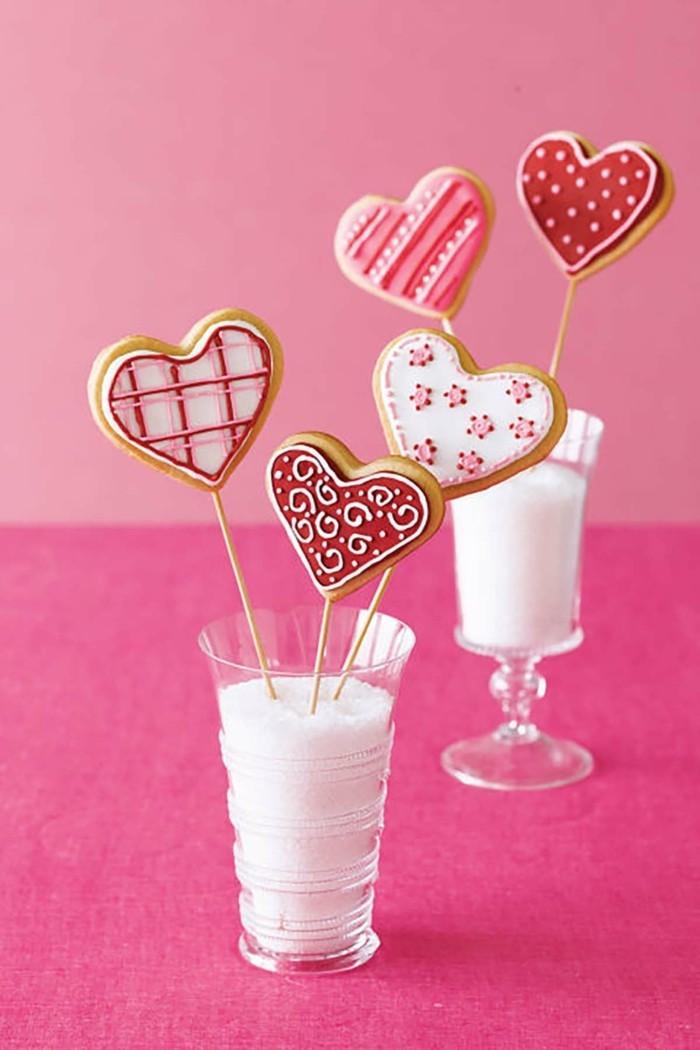 Valentinstag Ideen Kuchen Kekse