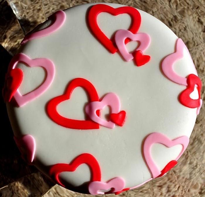 valentinstag kuchen schöne torte herzen