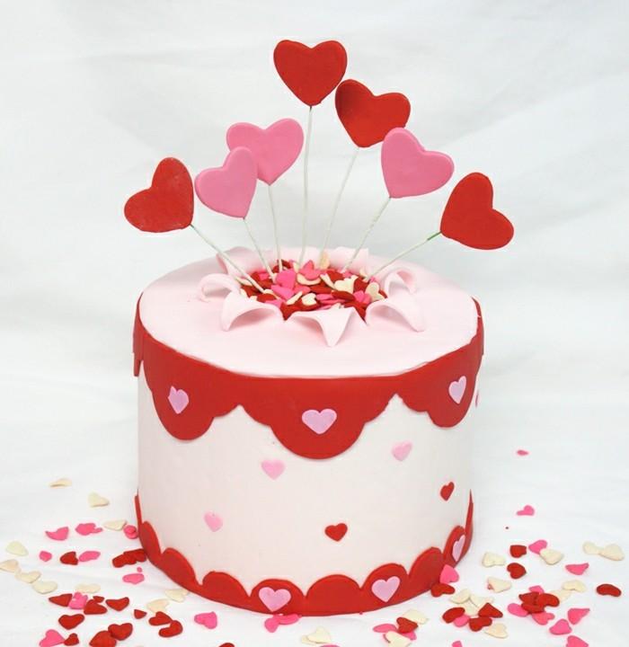 Valentinstag Kuchen Torte Dekorieren Herzen