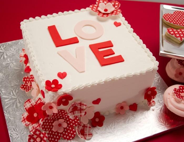 valentinstag kuchen torte zubereiten quadrat