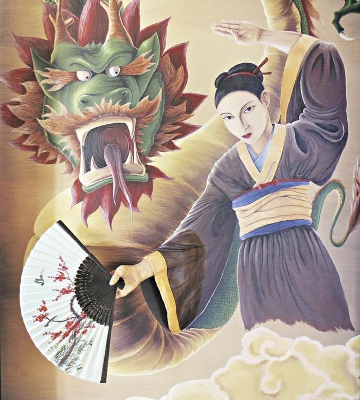 wanddesign ideen Petrescu Silviu japanisches thema