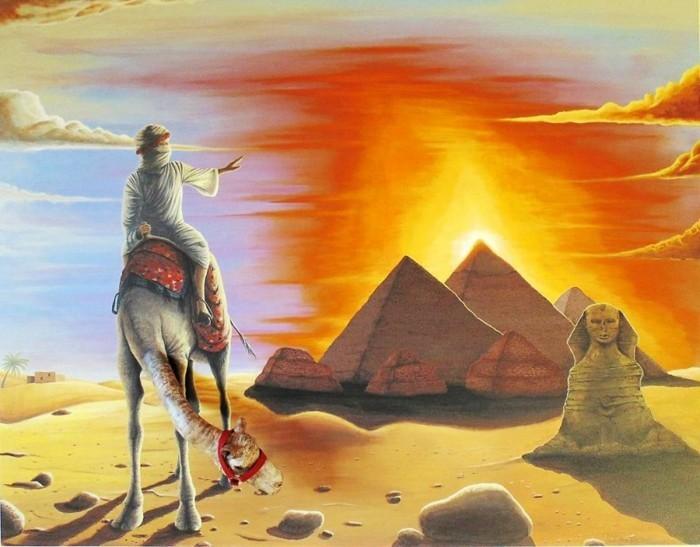 wanddesign ideen Petrescu Silviu kamel pyramiden