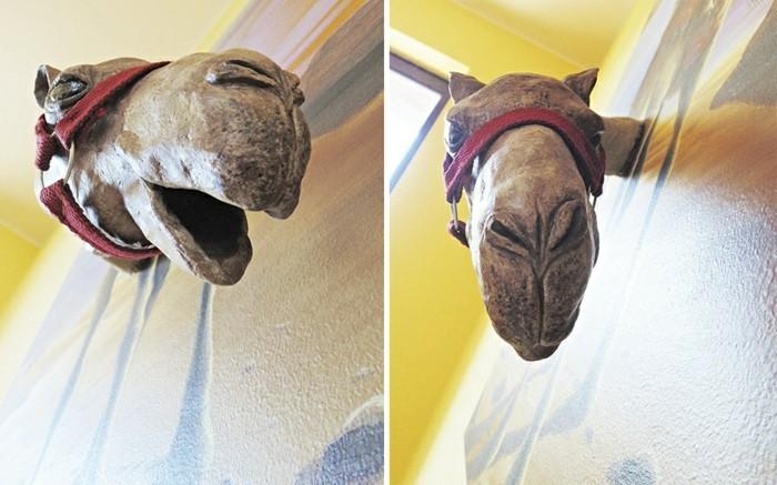 wanddesign ideen Petrescu Silviu kamel tieren leben einhauchen
