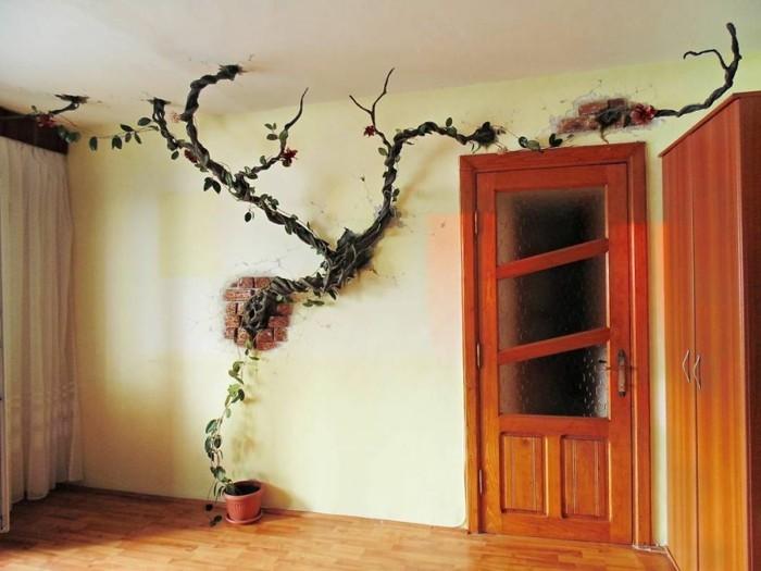 wanddesign ideen welche den w nden ein echtes leben einhauchen. Black Bedroom Furniture Sets. Home Design Ideas
