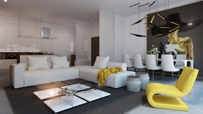 Wohnzimmer mit essbereich ideen  77 Wandgestaltung Ideen: Praktische Tipps, die jeder vor der ...