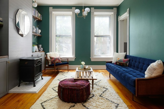 wandfarbe wohntrends 2017 blaugrün panton institut
