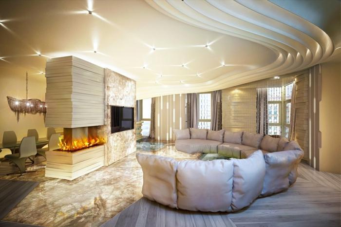 wandgestaltung ideen im modernen wohnzimmer in neuttalen farben