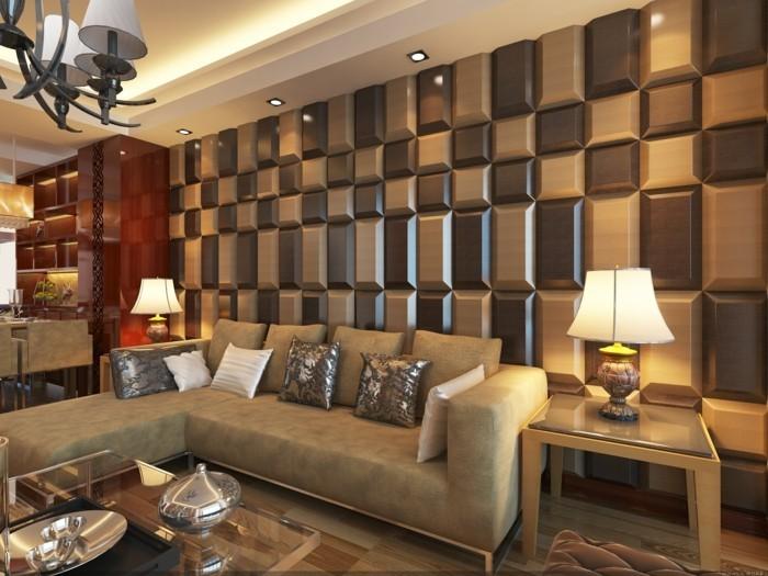 wandgestaltung ideen paneele im wohnzimmer die ihm einen schicken look verleihen